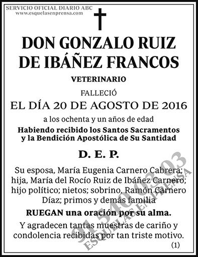 Gonzalo Ruiz de Ibañez Francos